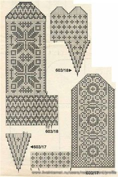 Żakardowe ciepłe skarpety) - Knitting - Home Moms Knitted Mittens Pattern, Knitted Gloves, Knitting Socks, Hand Knitting, Knitting Charts, Knitting Stitches, Knitting Patterns, Motif Fair Isle, Crochet Motif