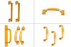 Brass Door Handles #BrassDoorHandles Brass Door Knocker, Brass Door Handles, Brass Hinges, Door Knockers, Brass Hardware, Drawer Pulls, Doors, Puertas