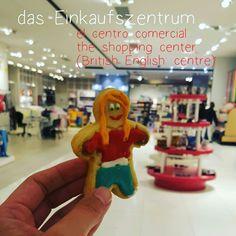 das Einkaufszentrum = el centro comercial = the shopping center or shopping mall (American English)  DasEinkaufszentrumwar kurz nach sechs Uhr gähnend, um nicht zu sagen gespenstisch leer (der, die, das App)    LEARN GERMAN WITH COOKIES  #cookies #learngermanwithcookies #german #deutsch #german #aleman #learn #ideas #original #yum #iGermany #Deutschland #Alemania #aupair #fun #funny #cool #kaufen #buy #einkaufszentrum #shopping