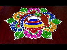 Rangoli Designs Latest, Simple Rangoli Designs Images, Rangoli Designs Flower, Rangoli Border Designs, Rangoli Designs Diwali, Rangoli Designs With Dots, Beautiful Rangoli Designs, Easy Rangoli Patterns, Rangoli Ideas