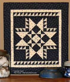 This little quilt, named Colonial Star , is a Limited Edition  pattern release that I introduced a little while ago.  I love it so much t...