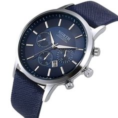Relógio Masculino North Azul Importado