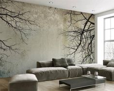 Cheap mural wallpaper Buy Quality photo wallpaper directly from China mural wallpaper Suppliers: Custom Photo Wallpaper Creative Abstract Home Decor Nordic Style Tree Branches Sky Papel De Parede Desktop Mural Wallpaper Custom Wallpaper, Photo Wallpaper, Wall Wallpaper, Office Wallpaper, Painting Wallpaper, 3d Living Room, Living Room Murals, Rooms Home Decor, Bedroom Decor