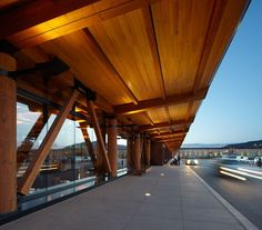 'jackson hole airport' in wyoming, is the only aviation hub in the united states that is positioned within a national park. Timber Architecture, Timber Buildings, Architecture Details, Jackson Hole Airport, Jackson Hole Wyoming, Wood Truss, Timber Structure, Corten Steel, Commercial Architecture
