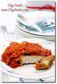 Ryba po grecku Olgi Smile French Toast, Gluten Free, Favorite Recipes, Fish, Chicken, Meat, Breakfast, Homeland, Recipies