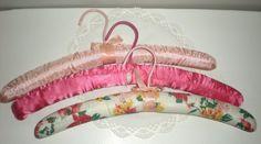 Padded Hangers    Lingerie Hanger  Velvet & Satin  by chloeswirl