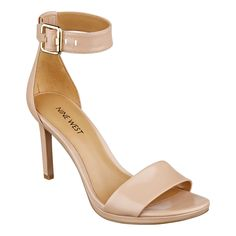 """Our Meantobe ankle strap platform sandals with open toe have a sleek, ultramodern design that can be worn -- virtually anywhere! Adjustable buckle closure. Padded footbed for all-day comfort. Leather upper. Man-made lining and sole. Imported. 1/4"""" platform. 3 1/2"""" high heels."""