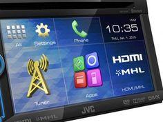 """Central Multimídia JVC KW-V31BT Tela 6,1"""" Touch - Entrada de Câmera de Ré e USB Bluetooth com as melhores condições você encontra no Magazine Ciabella. Confira!"""
