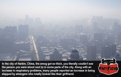 The Chinese City Where You Can't See in Front of You - http://www.factfiend.com/chinese-city-cant-see-front/ - #China, #Pollution, #Wierd