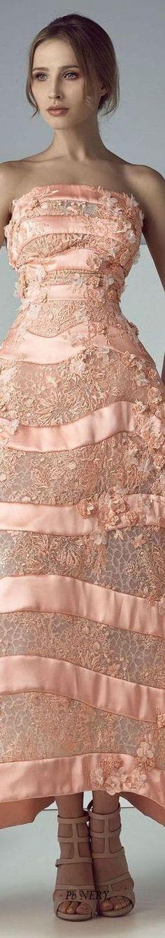 Saiid Kobeisy Spring-Summer 2017 RTW Orange Fashion, Coral Fashion, Shades Of Peach, Sherri Hill Prom Dresses, Young Fashion, Festival Outfits, Couture Fashion, Evening Dresses, Saiid Kobeisy