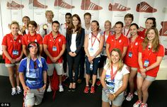 Royal seal of approval: The Duchess of Cambridge and Prince Harry congratulated GB athletes for helping achieve Britain's biggest medal haul for more than a century