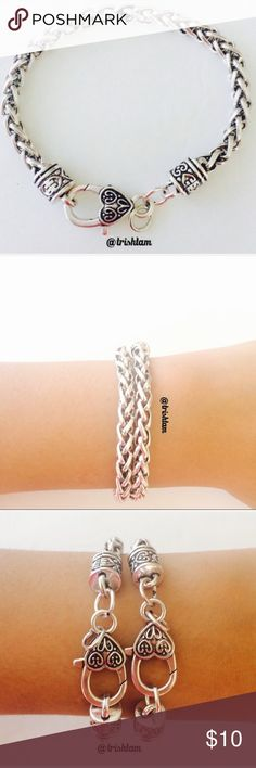 """🔴🆕2 for $17 Silver chain link bracket/anklet Brand new and never used. Can be worn as bracelet or foot jewelry Unfastened it is approx 8"""".‼️Please ❌ trade and ❌offers. Price is firm unless bundled. Please send me an offer with the appropriate discount if buying a bundle.‼️ Elegant Jewelry Jewelry Bracelets"""