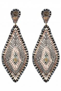 gold filled beaded #earrings I designed by miguel ases I NEWONE-SHOP.COM