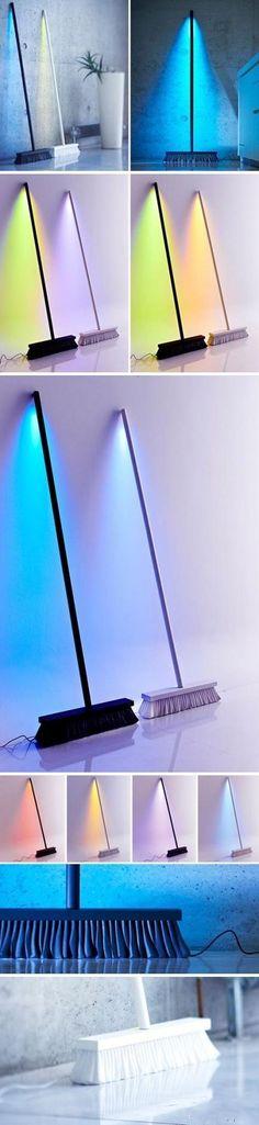 Creative floor light designed by Peteris Zilbers.