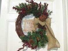 DOUBLE DOOR WREATHS...Country Christmas Wreaths...Holiday Door Decor Wreaths.Christmas Interior Double Door Wreaths...Seasonal Decor Wreaths