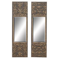 Try DIY with metallic plaster!  I pinned this Aristocrat Wall Mirror (Set of 2) from the World Traveler event at Joss and Main!