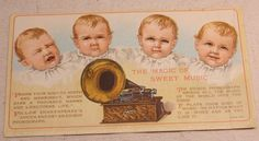 Edison Phonograph Advertising Card by FoundAround on Etsy, $20.00