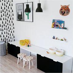 Aménagement STUVA IKEA noir et blanc Déco chambre d'enfant