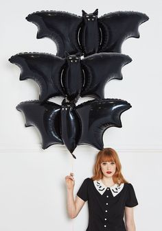 Bat's the Spirit! Balloons - Black, Black, Halloween, Quirky, Good, Dorm Decor, Handmade & DIY, Statement, Critters, Woodland Creature, Hostess