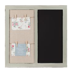 Create a loving home with this Vintage Grey Chalkboard With Photo Pegs. Simple…