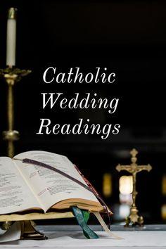 Catholic Readings Catholic Wedding Readings, Church Wedding Catholic, Church Readings, Catholic Marriage, Mass Readings, Wedding Ceremony Readings, Catholic Mass, Catholic Prayers, Scripture Readings For Weddings