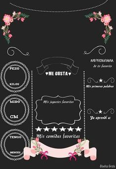 Girl Birthday Themes, Happy Birthday, Chalkboard Poster, Chalkboard Banner, Baby Shower, Ideas Para Fiestas, Chalk Art, Baby Cards, Pink And Gold