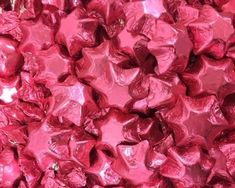 A bulk Foiled Chocolate Stars Pink box.