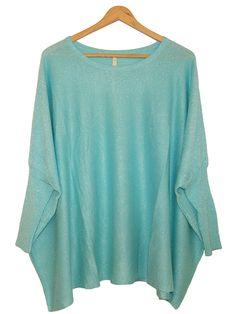 Pull bleu turquoise paillette. http://milena-moda.com/