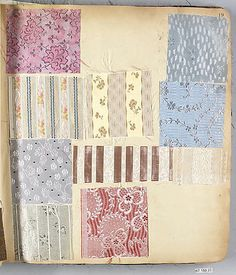 Textile Sample Book from history 1901-1903, French and American #patterns #design #textiles