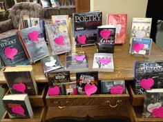 """from Teen Librarian's Toolbox blog Staff and Patrons can """"tag"""" favorites with post-its"""