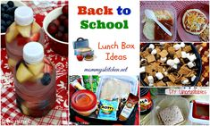 Mommy's Kitchen - Home Cooking & Family Friendly Recipes: Lunch Box Fruit Water & Yogurt Fruit Salad + More BTS Lunch Box Ideas