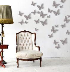 Wanddeko - 3 D Schmetterlinge Wanddeko Schmetterling M1258 - ein Designerstück von IlkaParey bei DaWanda