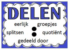 Bewerkingen Back 2 School, High School, Learn Dutch, Classroom Management Plan, Math Division, School Info, School Posters, Expressions, A Classroom