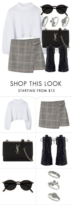 """Untitled #6987"" by laurenmboot ❤ liked on Polyvore featuring MANGO, Yves Saint Laurent, Zimmermann and Miss Selfridge"