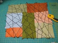 Fractures #2 - by Sandy Ciolino (at the beginning),  after Kathleen Loomes FINE LINE PIECING