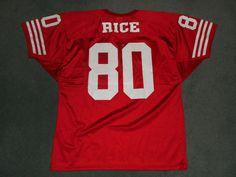Men's Vintage Red & White SAN FRANCISCO 49ers #80 RICE NFL Jersey, Size XL, GUC! #WILSON #SanFrancisco49ers