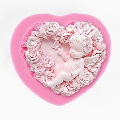 Sugarcraft Moulds,Lace Silicone Mold,Cake Decorating Tool fairy Elf Angel 083