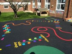 thermoplastic playground markings jump - Google Search