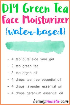Tea Face Moisturizer Make this easy water-based green tea face moisturizer suitable for oily and acne prone skin!Make this easy water-based green tea face moisturizer suitable for oily and acne prone skin! Moisturizer For Oily Skin, Homemade Moisturizer, Homemade Skin Care, Natural Moisturizer For Face, Homemade Facials, Tinted Moisturizer, Homemade Beauty, Avon Products, Makeup Products