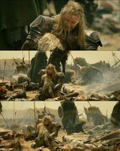 Eomer finds Eowyn. This scene is heart wrenching.  ~Eomer gets Big Brother of the Year award~