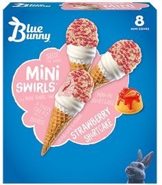 Strawberry Puree, Strawberry Ice Cream, Strawberry Shortcake, Blue Bunny Ice Cream, Ice Cream Day, Coffee Protein Smoothie, Unicorn Foods, Frozen Desserts, Ice Cream Recipes
