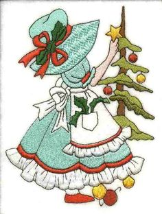 Sunbonnet Sue Months of the Year  -  December