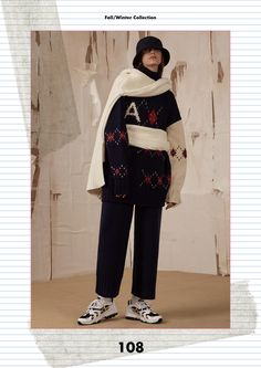 Fall/Winter collection lookbook 'ADER DESIGN OFFICE' #ADER #fashion #collection #lookbook #image #photo #design #office #collage #minimal #simple #contemporary #colorful #pink #grey #green #blue #charcoal #black #copy #normal #fur #knitwear #coat
