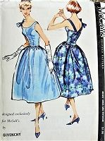 1950s RARE Givenchy Cocktail Party Evening Dress and Petticoat Pattern Stunning Design Bust 32 Vintage Sewing Pattern FACTORY FOLDED