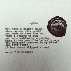 Blinking Cursor Series No. 381 #adrianmichael #typewriter #poetry #purpose