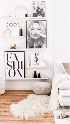White Wall Bedroom, White Walls, Bedroom Decor, Ikea, New Room, Room Inspiration, Interior Design, Home Decor, Tv Decor