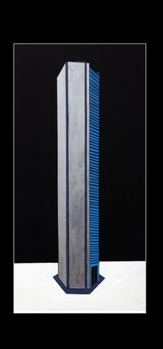 J P Morgan Chase Tower - Acrylic on Canvas