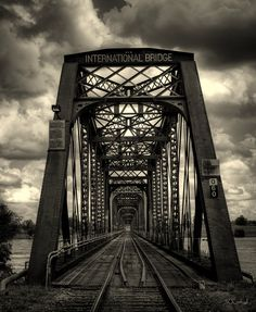 The International Railway Bridge   Fort Erie Ontario Canada   Across The Niagara River   Buffalo New York