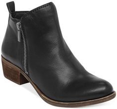 aa2c72aa1dd Lucky Brand Women s Basel Booties Black Leather Boots