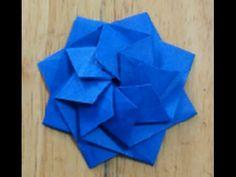 折り紙(おりがみ)・how to fold an origami : anemone_A